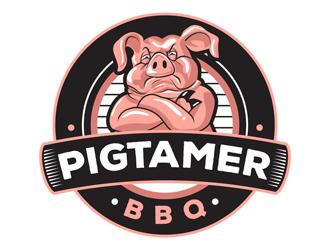 Pigtamer BBQ logo design