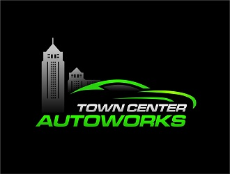 Town Center Autoworks logo design