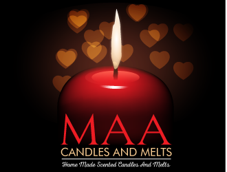 MAA CANDLES AND MELTS logo design