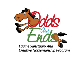 Odds and Ends Equine Sanctuary and Creative Horsemanship Program logo design