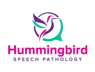 Hummingbird Speech Pathology logo design