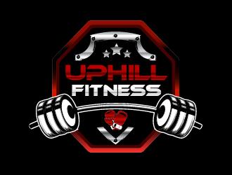 UpHill Fitness logo design