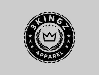 3Kingz Apparel logo design