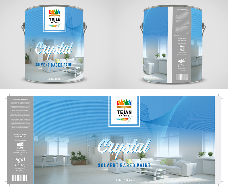 Decorative Paint, Product Name: Crystal logo design