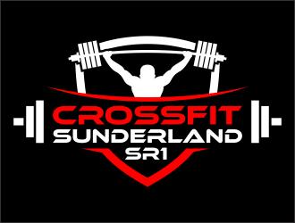 CrossFit Sunderland SR1 logo design