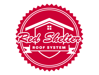 Red Shelter Roof Systems logo design