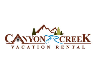 Canyon Creek Vacation Rental logo design