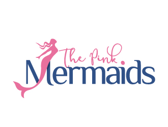 The Pink Mermaids logo design