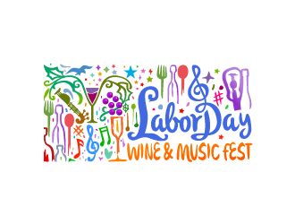 Labor Day Wine & Music Fest logo design