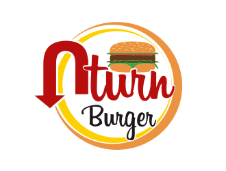 UTurn Burger logo design