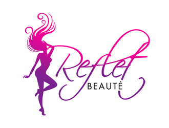 Reflet Beauté logo design