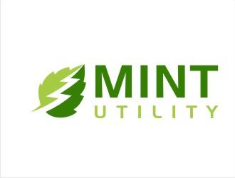 Mint Utilities logo design