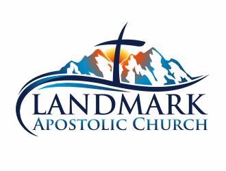 Landmark Apostolic Church logo design - 48HoursLogo.com