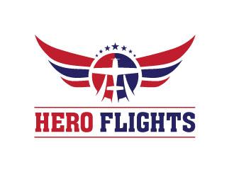 Hero Flights logo design