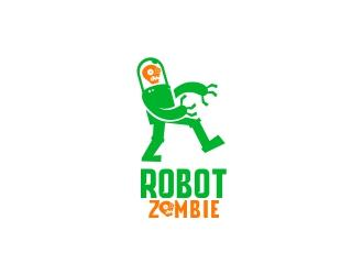 Robot Zombie logo design