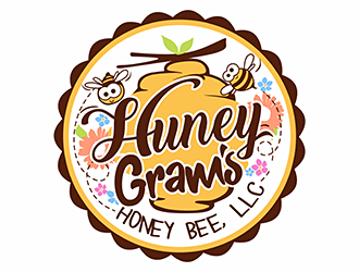 Huney-Gram's Honey Bee, LLC logo design