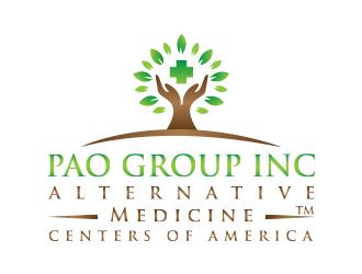 "PAO GROUP INC (DBA) ""ALTERNATIVE MEDICAL CENTERS OF AMERICA"" logo design"