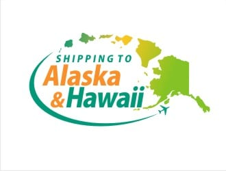 Shipping to Alaska and Hawaii logo design