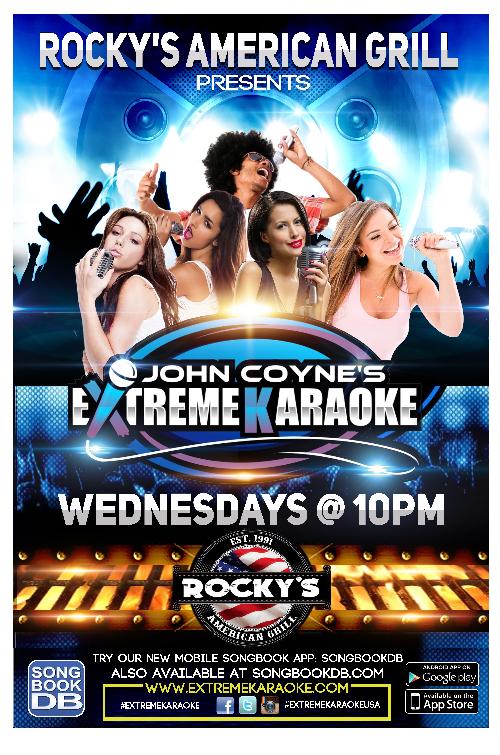 Extreme Karaoke Bar Poster logo design