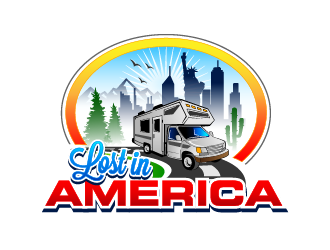 Lost in America logo design