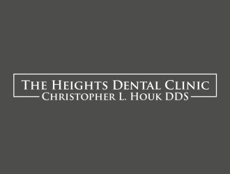 The Heights Dental Clinic, Christopher L. Houk DDS logo design