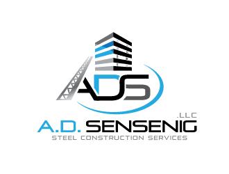 A. D. Sensenig LLC Steel Construction Services logo design