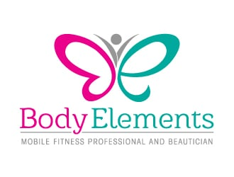 Body Elements (mobile fitness professional and beautician) logo design