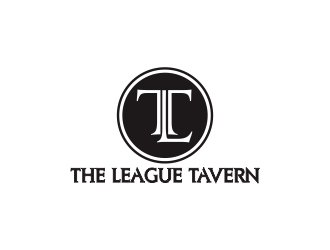 The League Tavern logo design