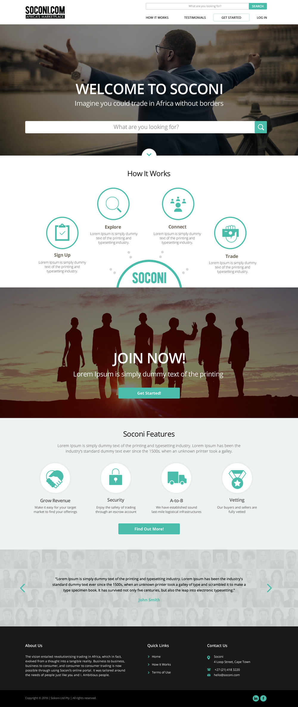 Soconi Web Page Designs logo design