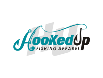 HooKed Up Fishing Apparel logo design