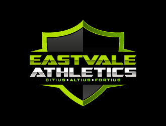 Eastvale Fitness Studio: Faster, Higher, Stronger logo design