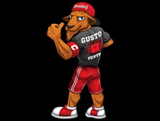 KUTA Fitness - Gusto The Goat - All About Attitude - #UYTP logo design