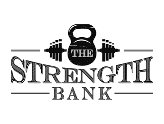THE STRENGTH BANK logo design