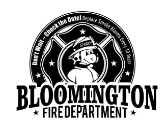 Bloomington Fire Department logo design