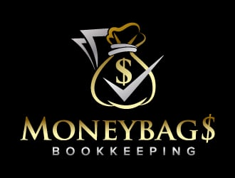 Moneybag$ Bookkeeping logo design