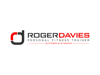 Roger Davies Personal Fitness Trainer logo design