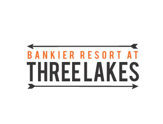 Bankier Resort at Three Lakes logo design