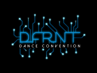 DFRNT Dance Convention logo design