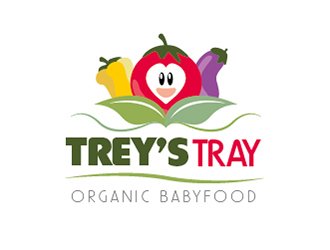 Treys Tray logo design