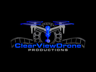 ClearViewDrone  Productions logo design