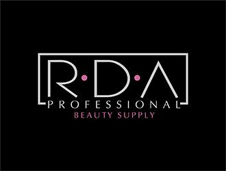 RDA Professional Beauty Supply. logo design