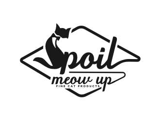 Spoil Meow Up logo design