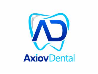 Axiov Dental logo design