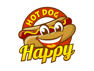 happy hot dog or hot dog happy logo design 48hourslogo com rh 48hourslogo com hot dog logo maker hot dog logo restaurant