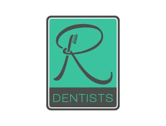 R Dentists logo design