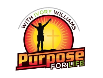 """Purpose for life"" with Ivory williams logo design"