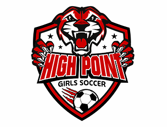 High Point Girls Soccer logo design