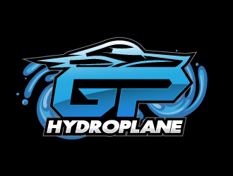 Grand Prix Hydroplane or GP Hydroplane logo design