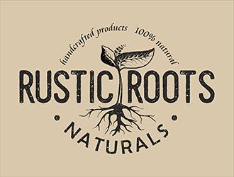 RUSTIC ROOTS naturals logo design - 48HoursLogo.com