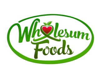 Wholesum Foods logo design